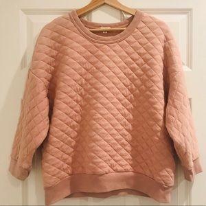 Gap blush quilted sweatshirt